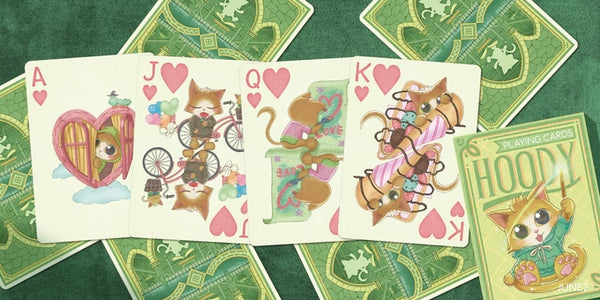 Hoody Playing Cards the Magician Cat by JD14 Made in USA
