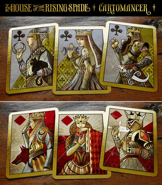 House of the Rising Spade Cartomancer Playing Cards Rare deck by Stockholm 17