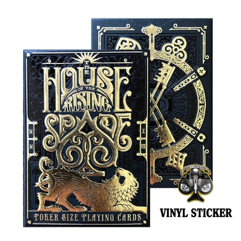 House of the Rising Spade Cartomancer Playing Cards Rare Black deck +1 Sticker