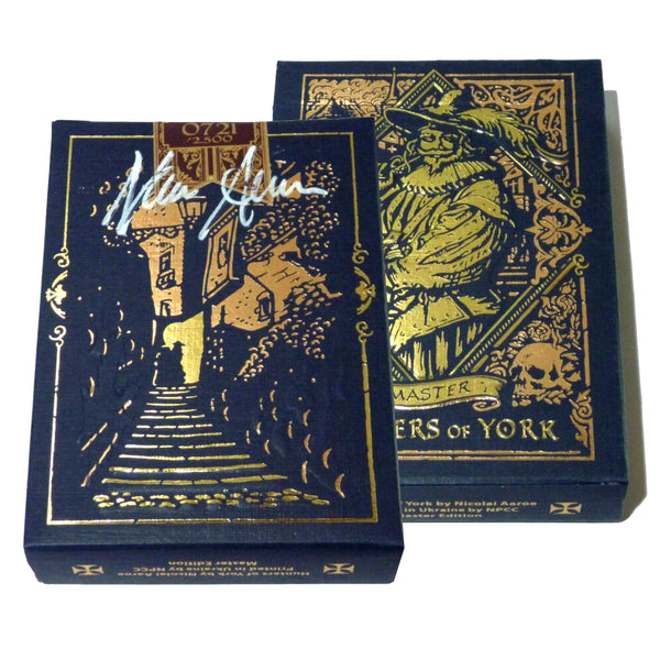 Hunters of York Playing Cards Master Edition Rare Signed Deck + Satin Pouch