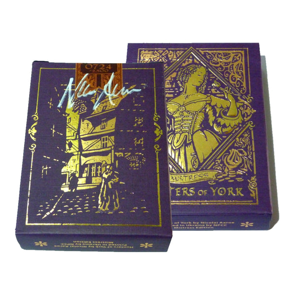 Hunters of York Playing Cards Mistress Edition Rare Signed Deck + Satin Pouch