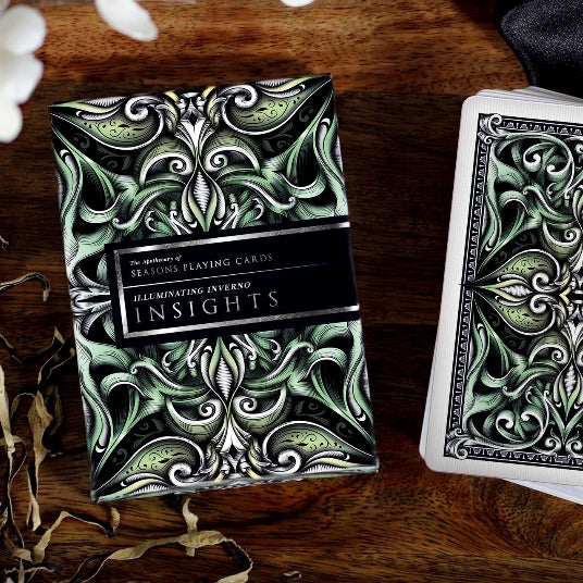 Insights Playing Cards Rare Embossed case Apothecary Edition