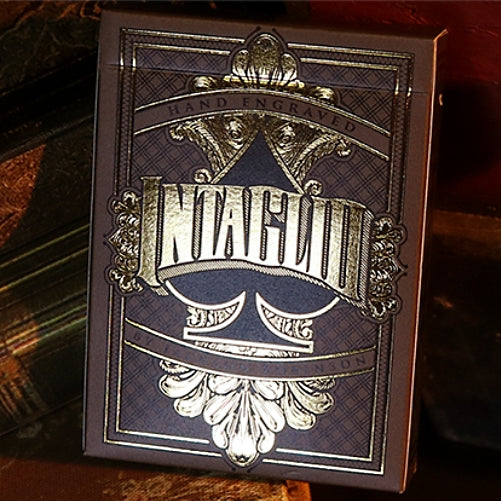 Intaglio Playing Cards Limited Edition Black Gold Foil Hand-Engraved
