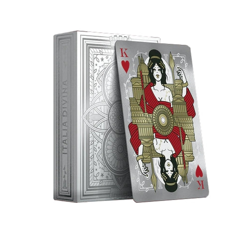 Italia Divina Playing Cards Foiled Limited Edition Holographic Number Seal
