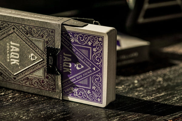 JAQK Amethyst Playing Cards sealed in a Impossible Glass Bottle AIP