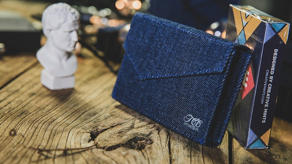 Jean Bag Playing Card Case by TCC Presents Real Blue Denim