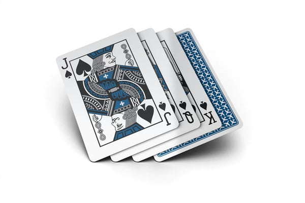Jetsetter Playing Cards Blue Edition Black Gloss Wooden Boxset