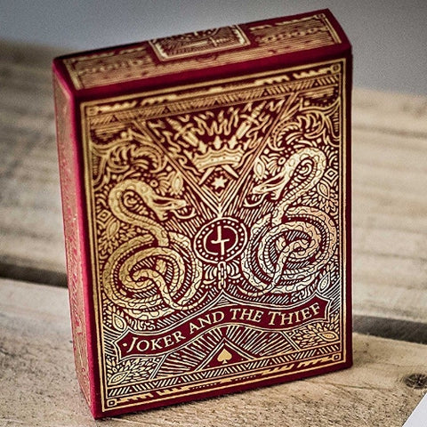 Joker and the Thief Playing Cards Blood Red Edition V2 Made in USA