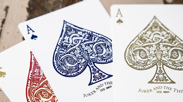 Joker and the Thief Playing Cards White Gold Edition V2 Made in USA