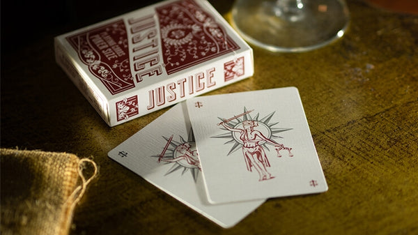 Justice Playing Cards By Passione Italy Lady of Justice deck