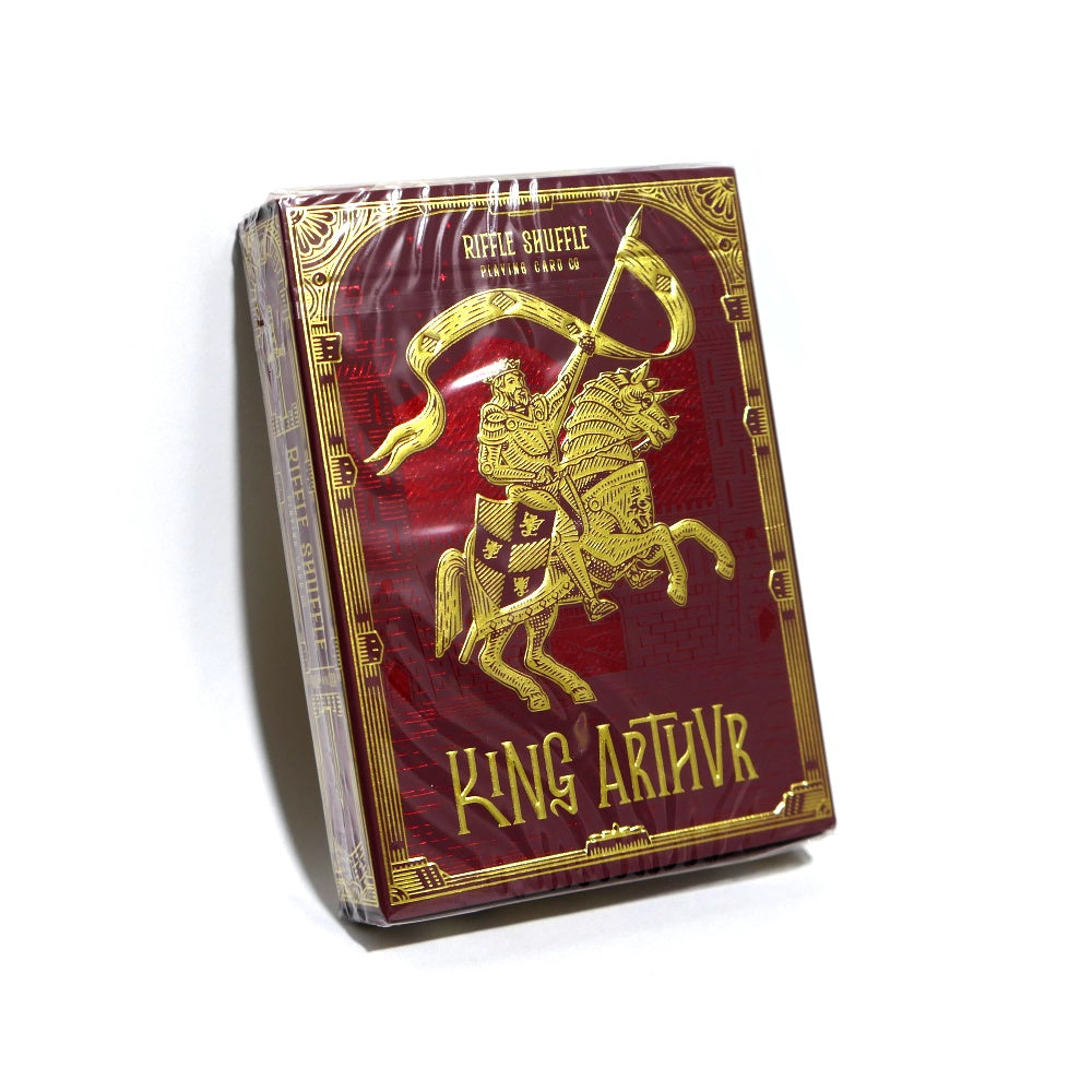 King Arthur Playing Cards Carmine Cavalier Red Edition by Riffle Shuffle