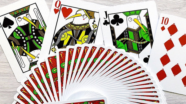 Kiwi Playing Cards New Zealand Bird Fruit deck Designed in Italy