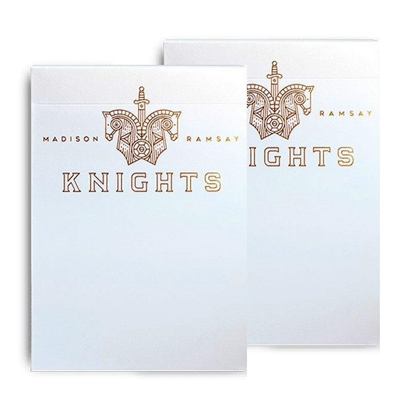 White Knights Playing Cards Rare Madison x Ramsay 1st Edition v1 Original 2-Decks