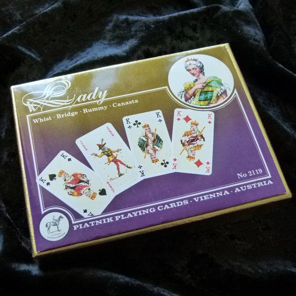 Piatnik Lady Vintage Bridge Canasta Rummy Playing Cards Rare 2 Deck Set