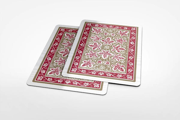 Buyworthy:Gold Leaf Back Playing Cards Red Bicycle Rare Edition Designed in Texas USA
