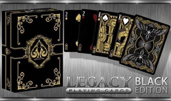 Buyworthy:Black Legacy Playing Cards Poker Magic Deck Brand New & Sealed Limited Edition