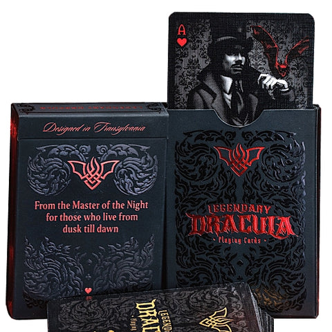 Legendary Dracula Playing Cards Ultra Rare 250 Printed Gold Gilded 2-Deck Set