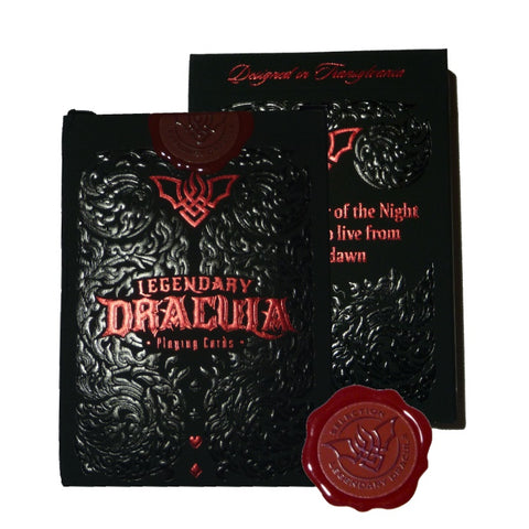 Legendary Dracula Playing Cards Rare 250 Printed Gold Gilded