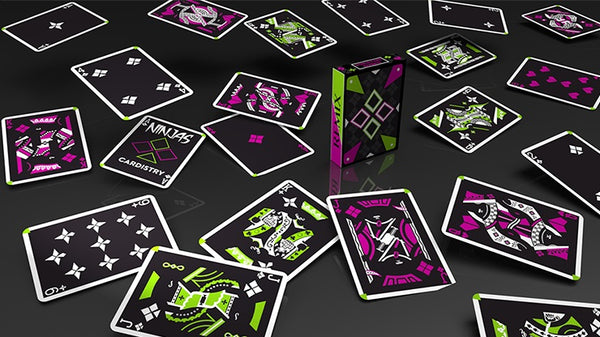 Ninjas Remix Playing Cards Green & Purple Cardistry deck by De'vo