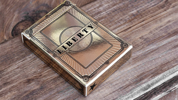 Liberty Playing Cards Gold Limited Edition deck by Jackson Robinson