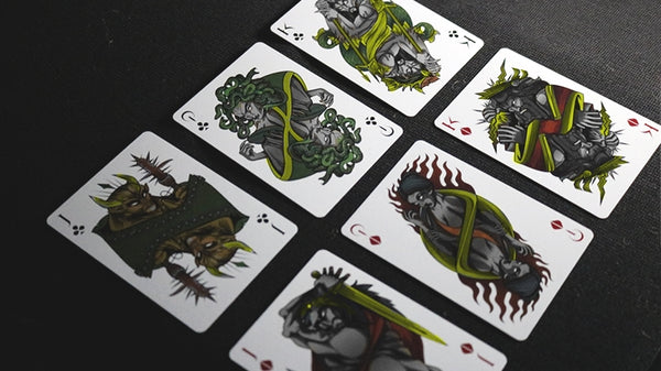 Theos Playing Cards Green Limited Edition designed in Italy by Parama