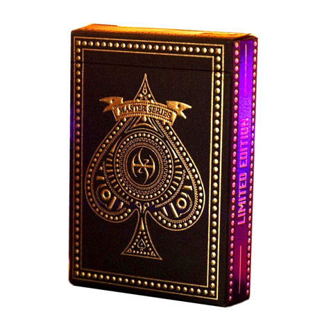 Dark Lordz Playing Cards Royale Edition by De'vo Deluxe Purple Foiled