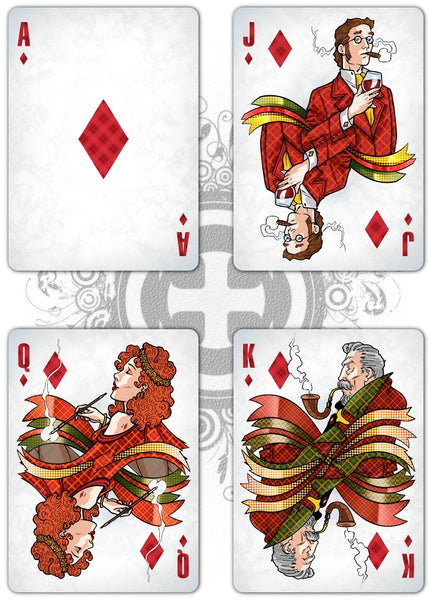 Love Is A Smoke Playing Cards Classic Edition by Passione Italy