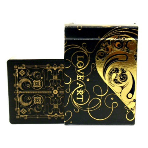 Love Art Gold Playing Cards Valentines Romantic Heart Rare Deck Limited Edition
