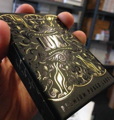 Luxx Gold Silver Playing Cards Shadow Edition 2 Decks set