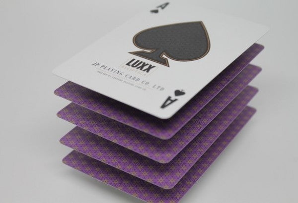 Luxx Elliptica Playing Cards Limited Edition Purple Luxury Deck