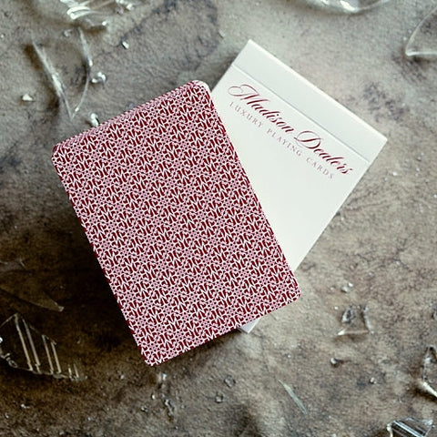 Madison Dealers Playing Cards Rare Red Borderless by Daniel Madison Marked