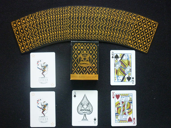 Massa Casino Playing Cards Premium Black Gold Rare Linen Finish