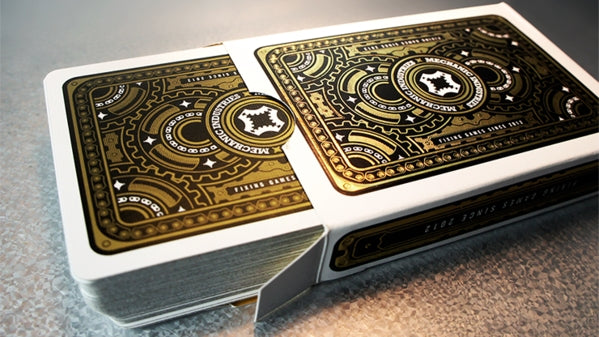 Mechanic Glimmer Playing Cards Gold Metallic Plated Deck