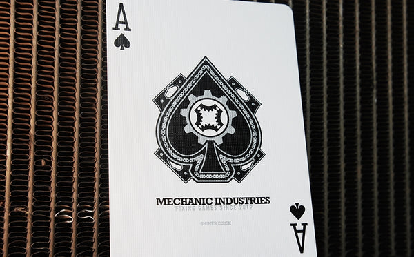 Mechanic Shiner Glimmer Playing Cards Set Metallic Rare 2 Decks