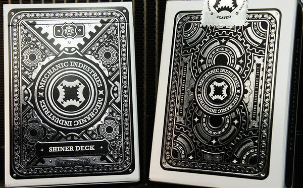 Mechanic Shiner Playing Cards Metallic Plated Deck