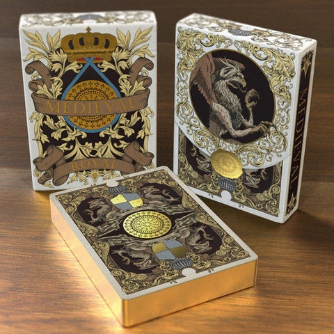 Medieval Royal Edition Playing Cards Renaissance Deck Luxury Gold Gilded