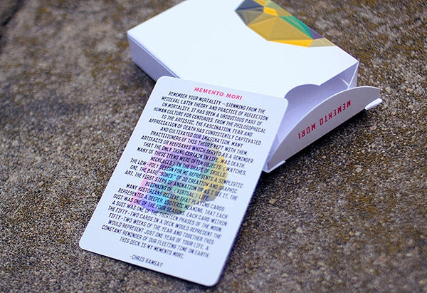 Buyworthy:Memento Mori Playing Cards by Chris Ramsay Latin Reflection on Mortality 1 Deck