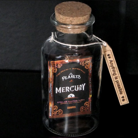 Mercury Playing Cards deck in a Glass Bottle Magic Collectors AIP