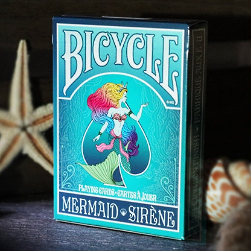 Mermaid Playing Cards Bicycle Turquoise Sirene Edition made in USA
