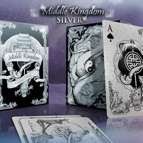 Middle Kingdom Playing Cards Silver Edition Poker Magic Deck Ancient China New