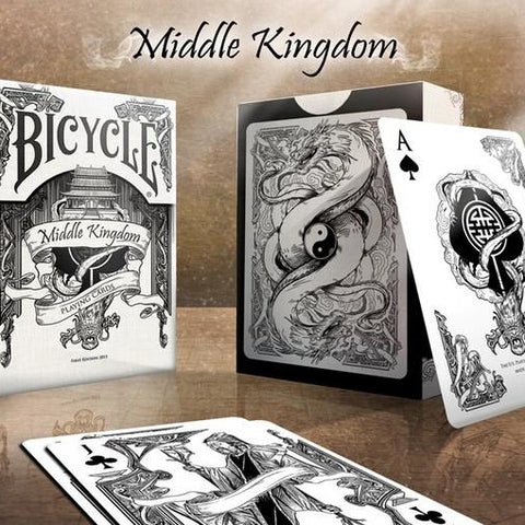 Buyworthy:Middle Kingdom Playing Cards White Edition Poker Magic Deck Ancient China New