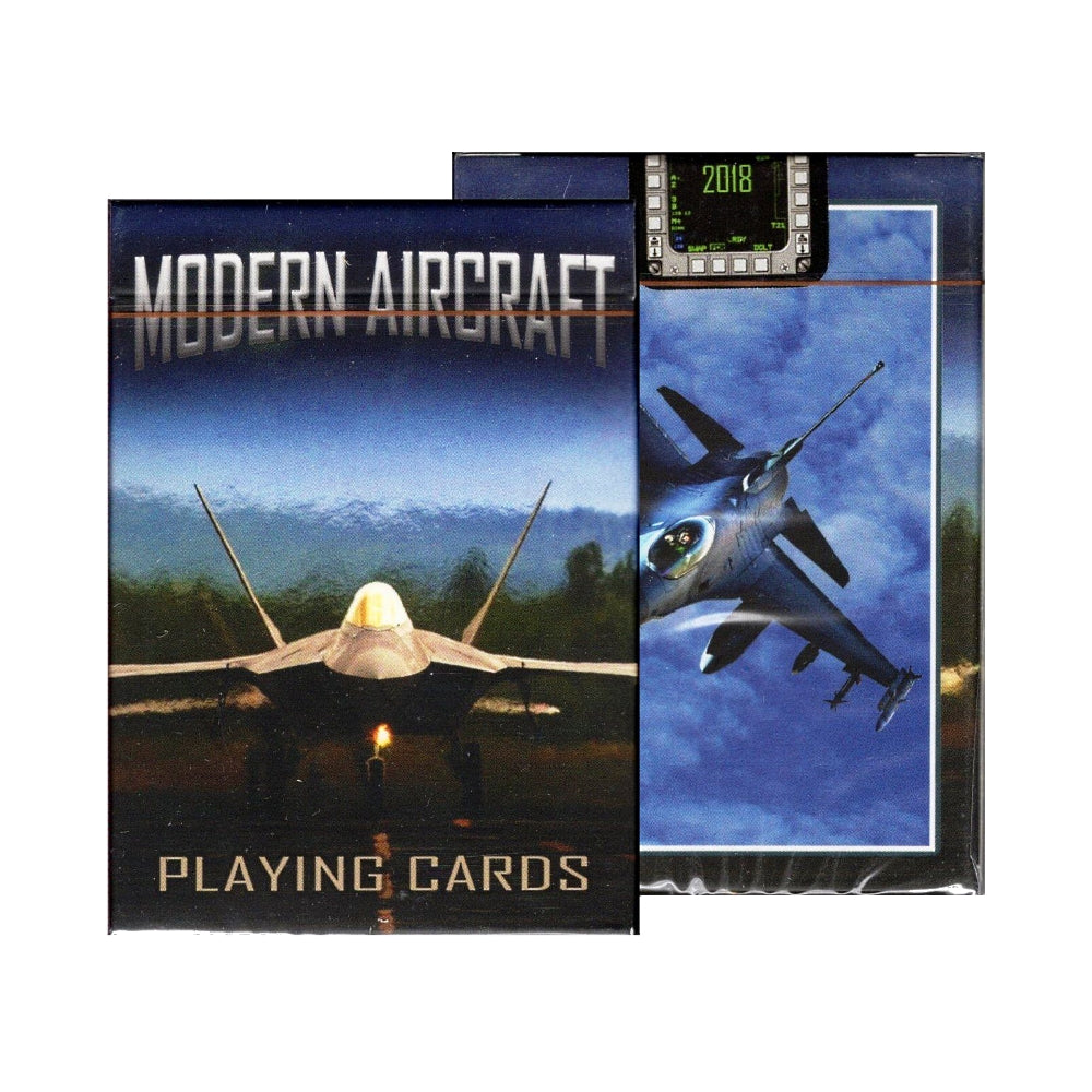 Modern Aircraft Playing Cards 21st Century Combat Jets and Bombers