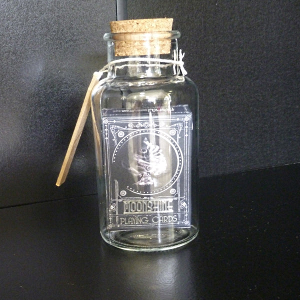 Moonshine Playing Cards in a Glass Bottle Magic Collectors AIP