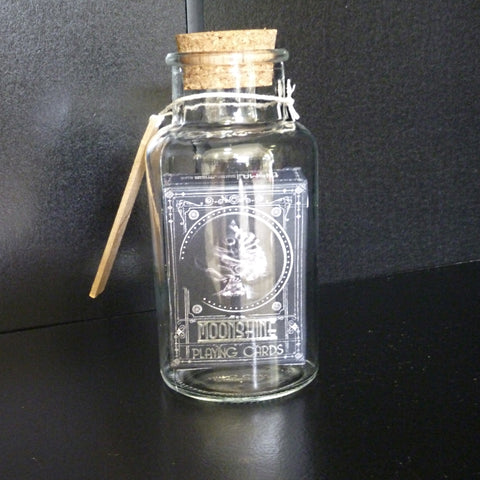Moonshine Playing Cards in a Bottle Magic Collectors Gift