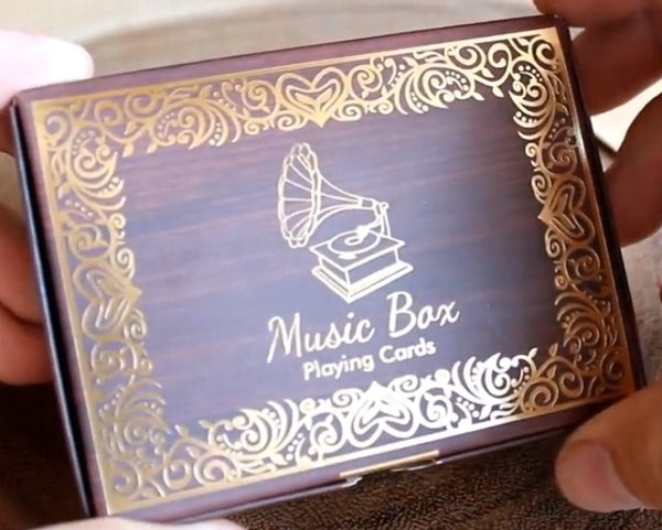 Music Box Playing Cards Rare Tuck Plays Claire De Lune tune