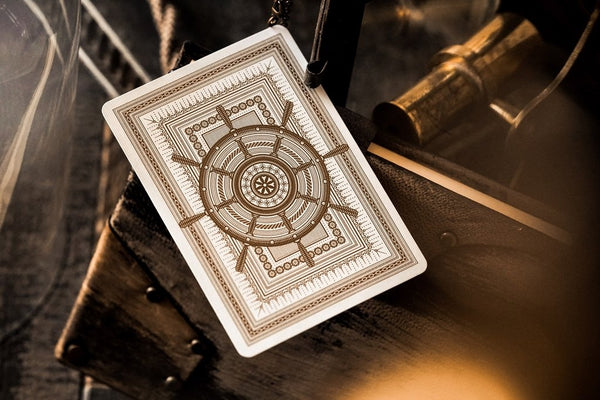 Navigators Playing Cards White Gold Nautical Deck by Theory 11 Embossed