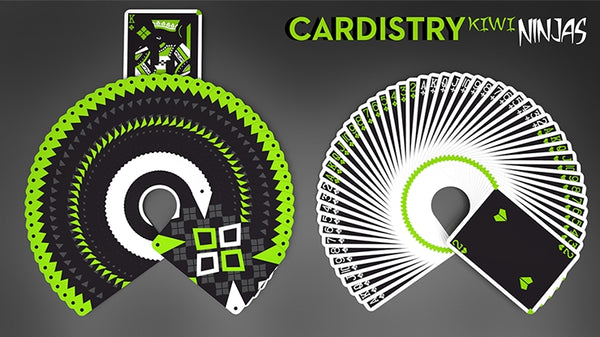 Ninjas Cardistry Kiwi Playing Cards Green Edition by De'vo