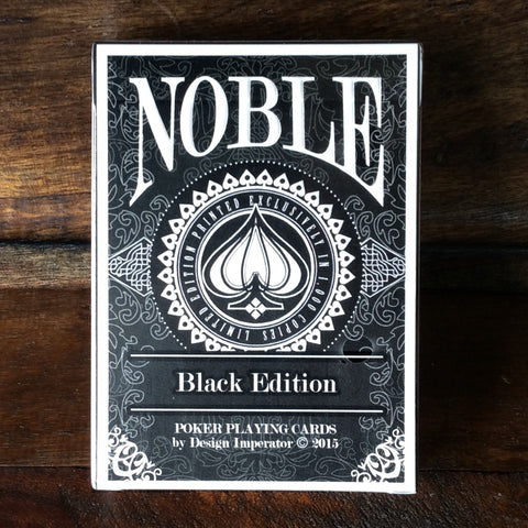 Noble Playing Cards Rare Black Edition by Design Imperator