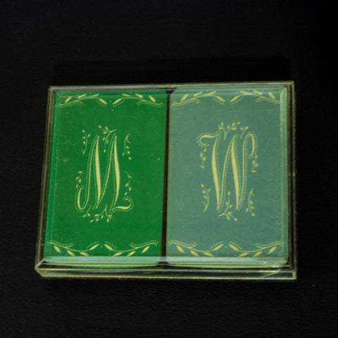 NOR Vintage Bridge Playing Cards Rare 2 Deck Set by Northbrook USA