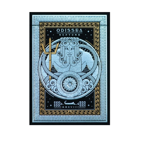 Odissea Neptune Playing Cards by Thirdway Italy Metallic Inks